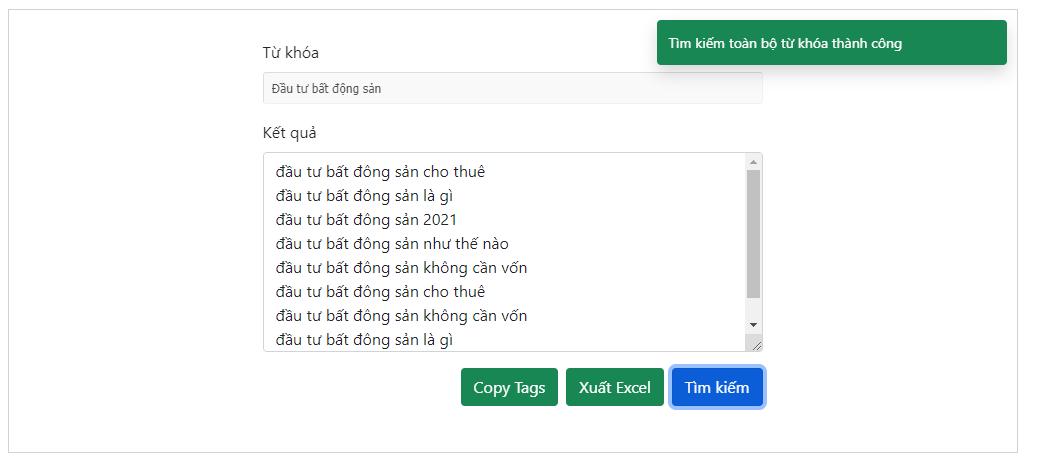 Công cụ gợi ý từ khóa tìm kiếm - tra từ khóa SEO miễn phí